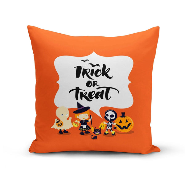 USA Made Dropship Pillow 12x16 / Multicolored Trick or Treat Kids Pillow Cover PC0347-12X-MUL