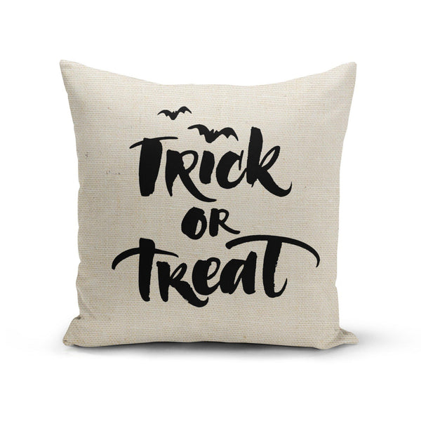 USA Made Dropship Pillow 12x16 / Multicolored Trick or Treat Pillow Cover PC0347-12X-MUL