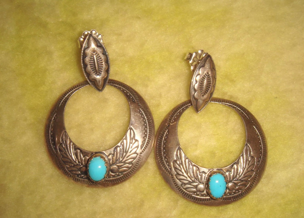 Vintage Sterling Hoop Earrings