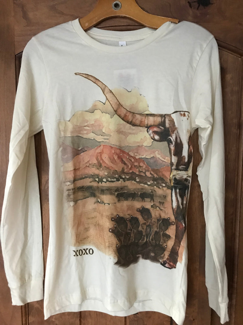 Longhorn Long Sleeved Tee