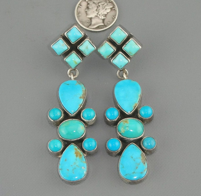 Vintage Turquoise Dangle Earrings