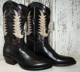 RETRO BLACK INLAY BOOTS