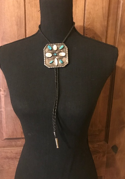 VINTAGE MOP AND TURQUOISE BOLO