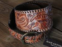 HAND TOOLED CURVED HIP BELT