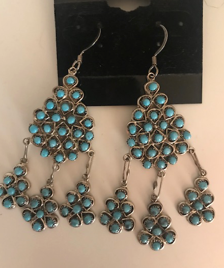 ZUNI SNAKE EYE CHANDELIER EARRINGS