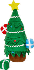 Frisco Holiday Christmas Tree Hide and Seek Plush Puzzle Squeaky Dog Toy