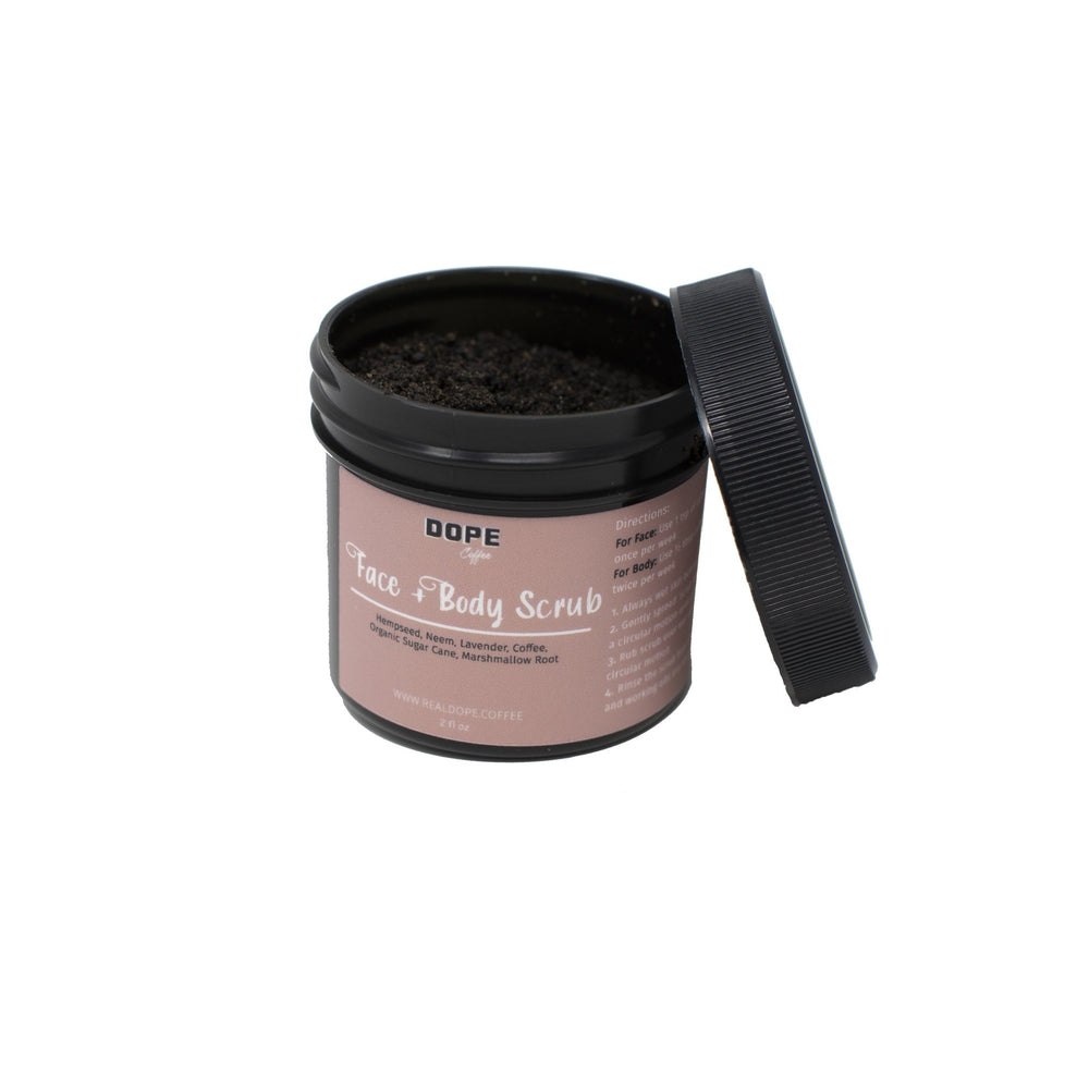 2oz Face + Body Scrub - Dope Coffee