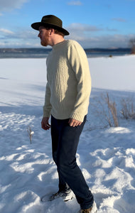 The Men's Cable Crewneck