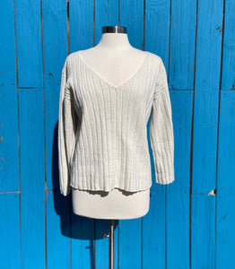 The Ribbed V-neck Sweater