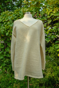 Knit sweater dress made of sustainable, natural Vermont wool