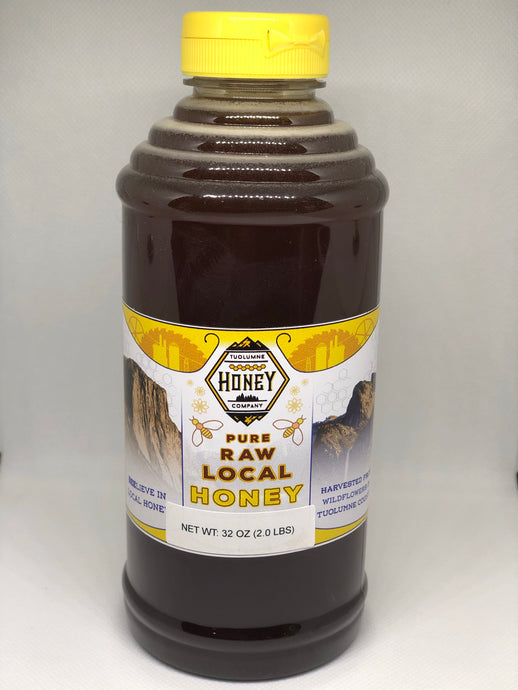 2 lb / 32 oz Squeeze Local Wildflower Honey