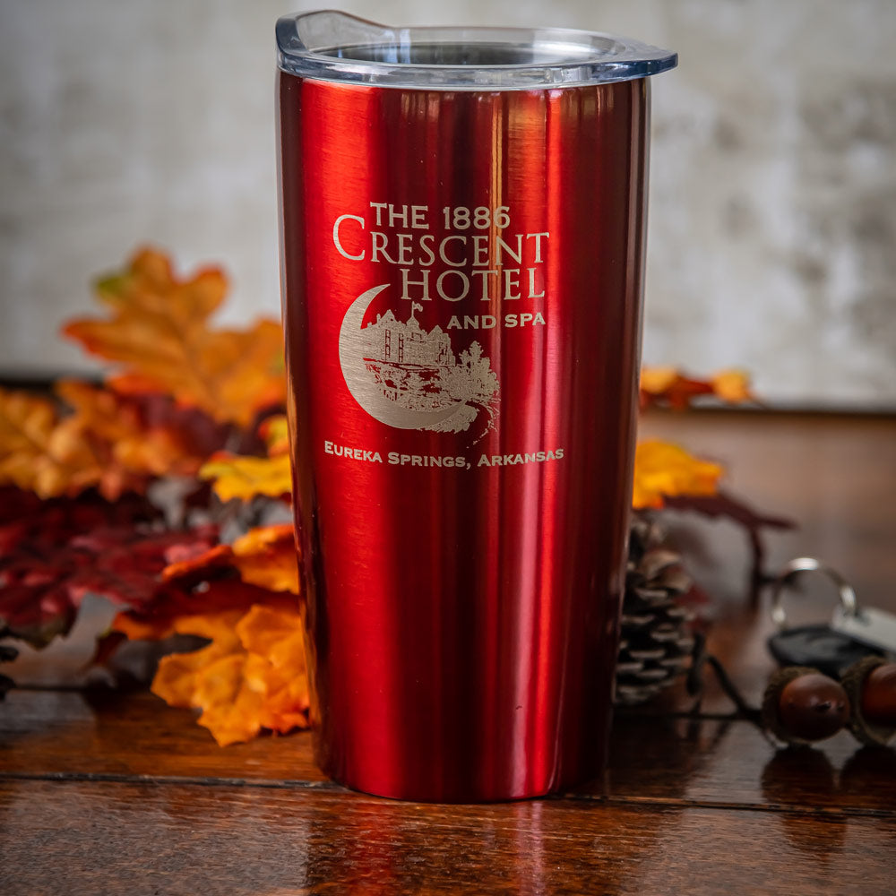 Etched Metal Travel Mug