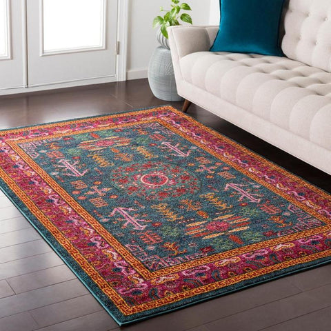 Beziers Updated Traditional Bright Red Area Rug