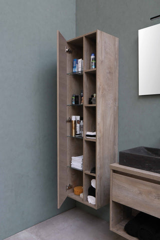 large bathroom cabinet made of wood