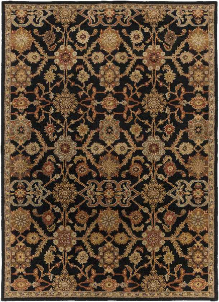 Nijstad Traditional Black Area Rug