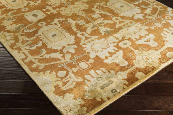 Posterenk Traditional Burnt Orange Area Rug