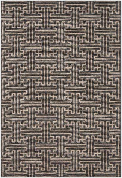 St Anne Indoor / Outdoor Black Area Rug