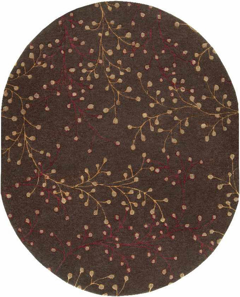 Le Havre Transitional Dark Brown Area Rug