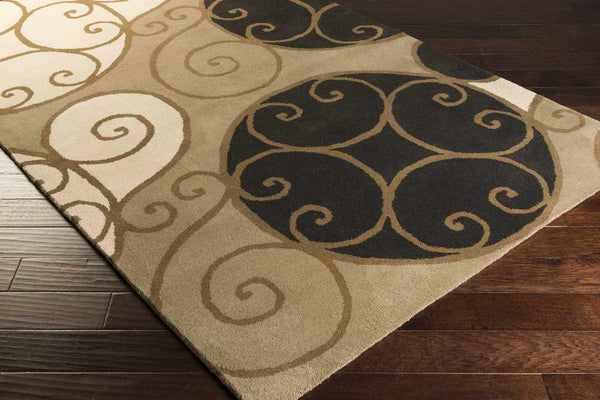 Osoyoos Transitional Khaki Area Rug