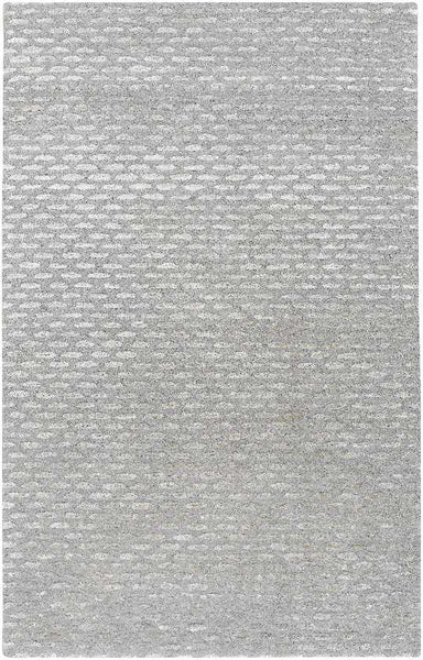Vendee Solid and Border Medium Gray Area Rug