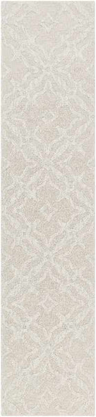 Algernon Solid and Border Beige Area Rug
