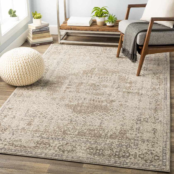 Bisceglie Traditional Cream Area Rug
