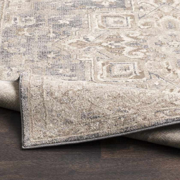 Bitonto Updated Traditional Dark Brown Area Rug