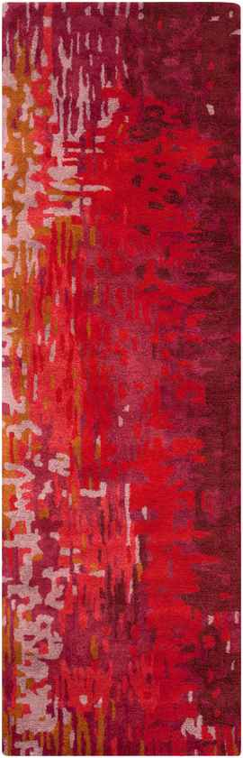 Niort Modern Pink/Red/Yellow Area Rug