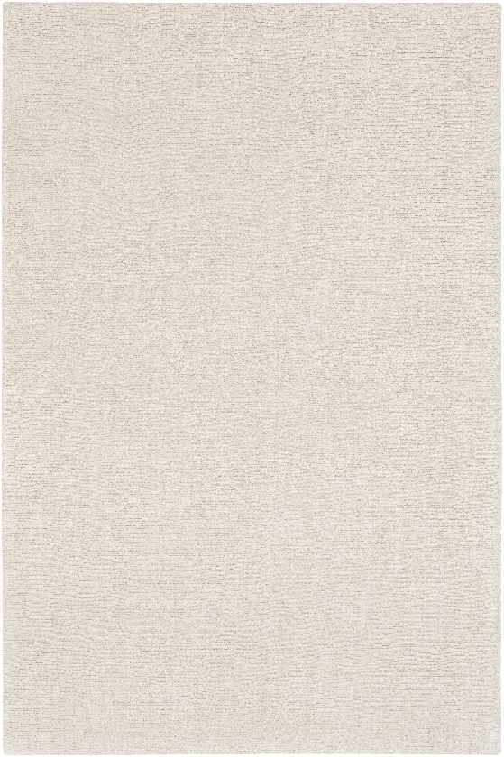 Remy Solid and Border Ivory Area Rug