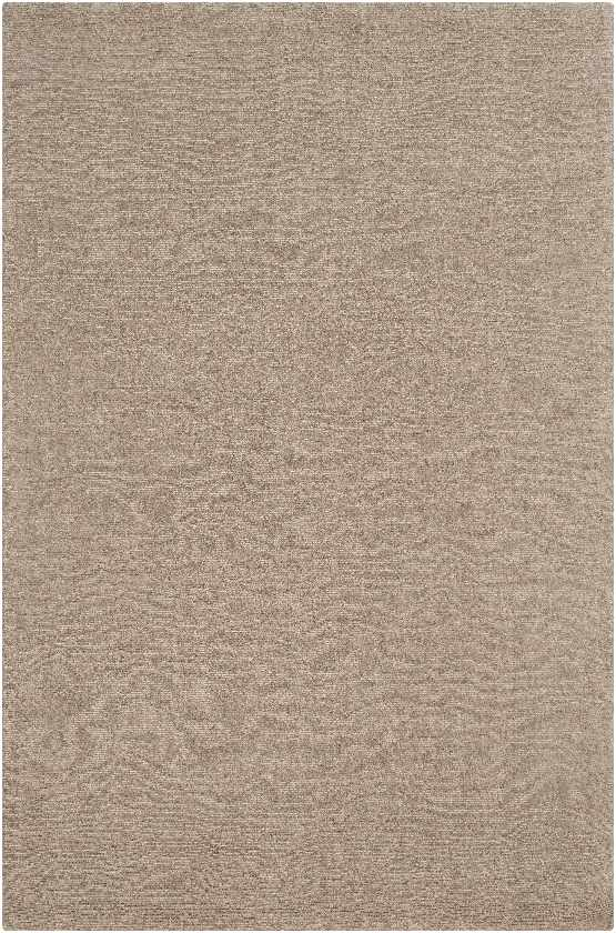 Remy Solid and Border Camel Area Rug