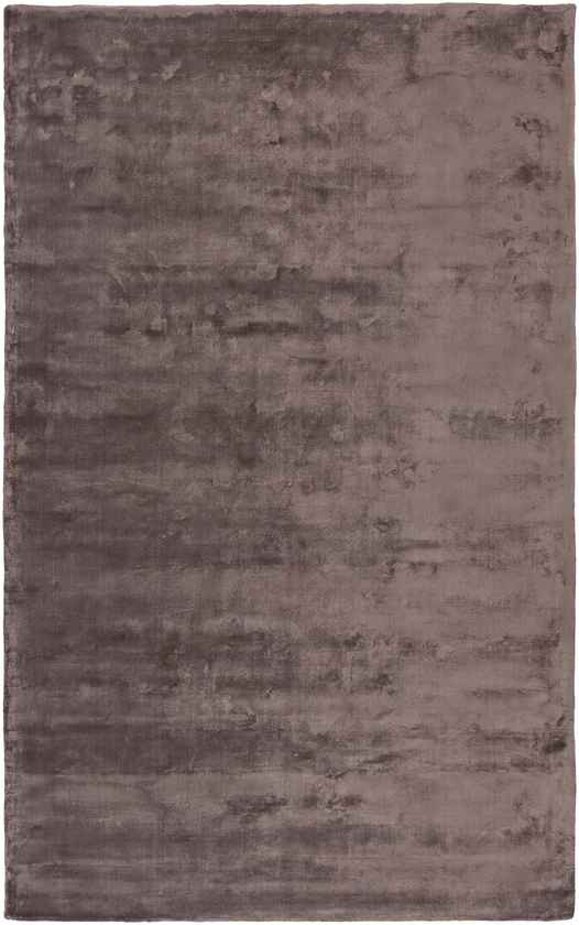 Bonanza Solid and Border Dark Brown Area Rug