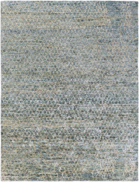 Laron Natural Fiber Bright Blue Area Rug