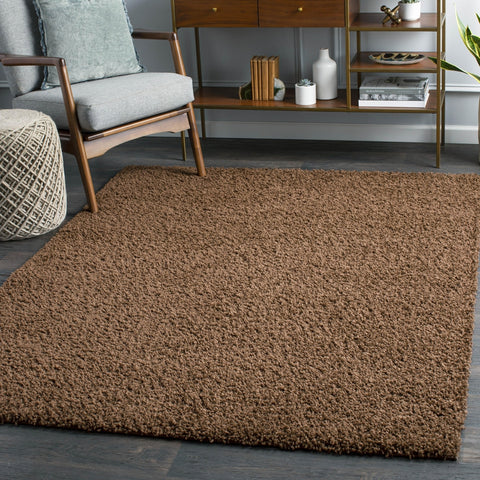 Tuindorp Shag Dark Brown Area Rug