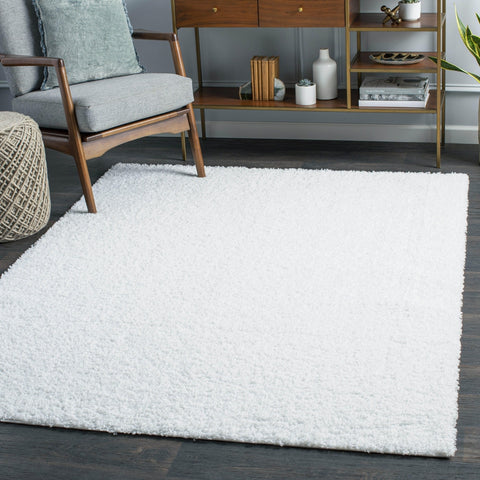 Tuindorp Shag White Area Rug