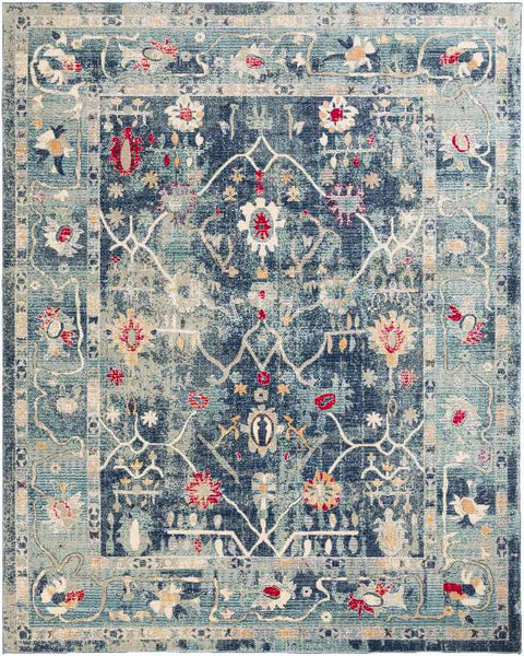 Le Gosier Traditional Navy Area Rug