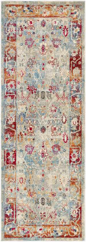 Le Gosier Updated Traditional Bright Red Area Rug