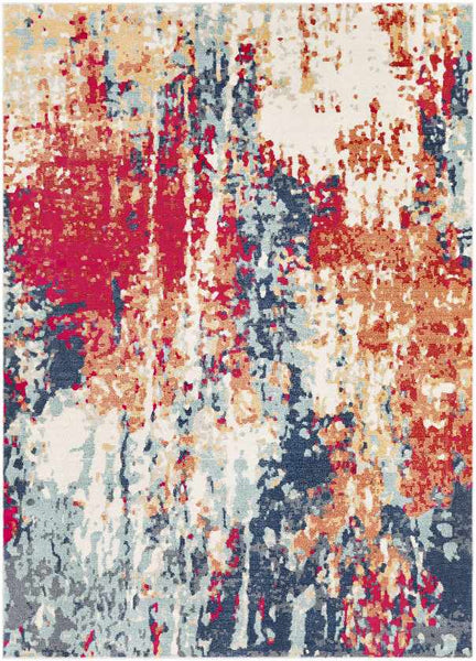 Fresnes Modern Bright Red Area Rug