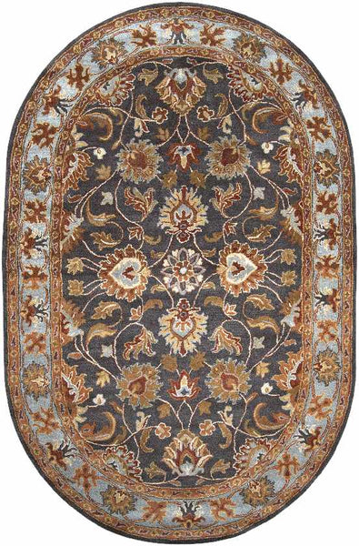 Paris Traditional Charcoal Area Rug