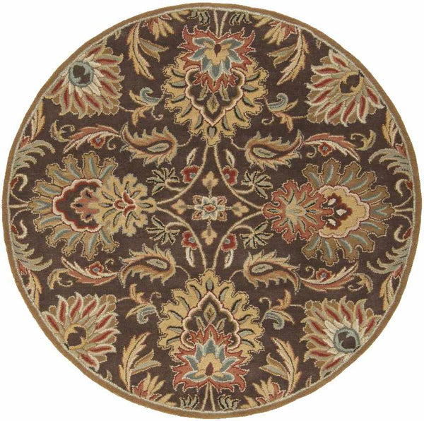 Lyon Traditional Dark Brown Area Rug