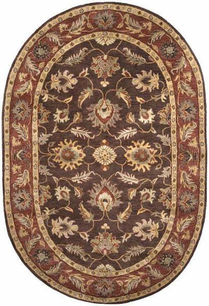 Irricana Traditional Dark Brown Area Rug