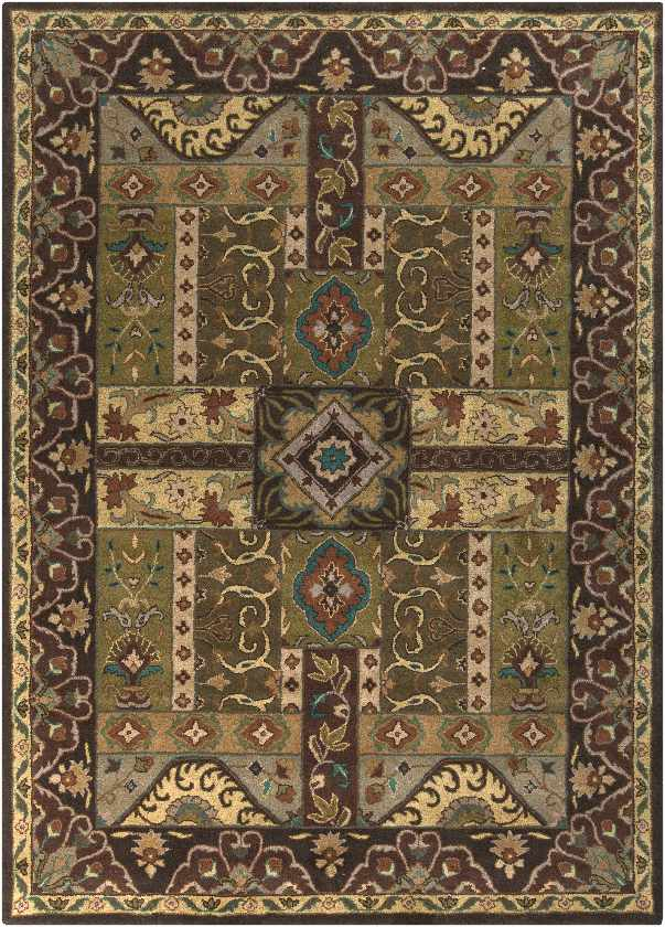 Legal Traditional Olive Area Rug