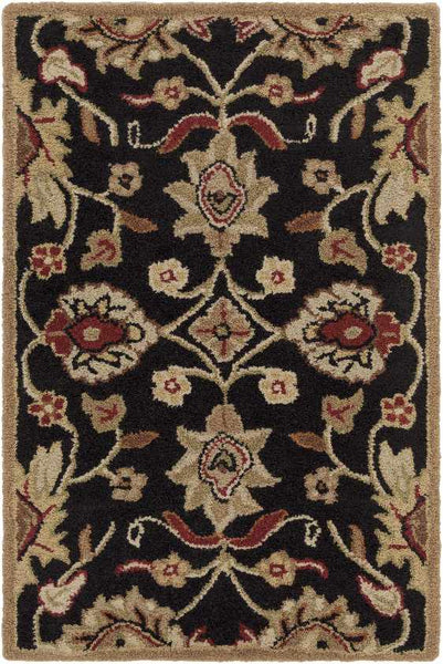 Eckville Traditional Black Area Rug