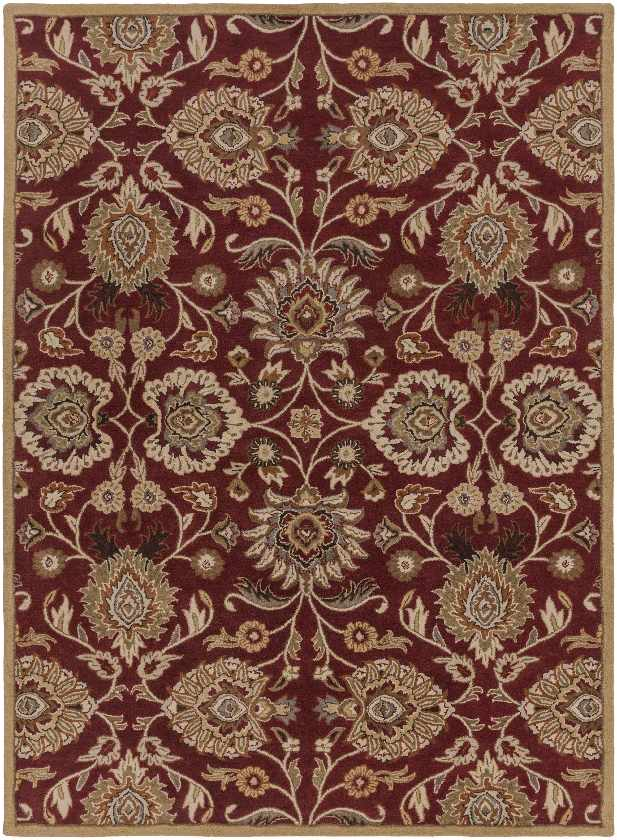 Eckville Traditional Burgundy Area Rug