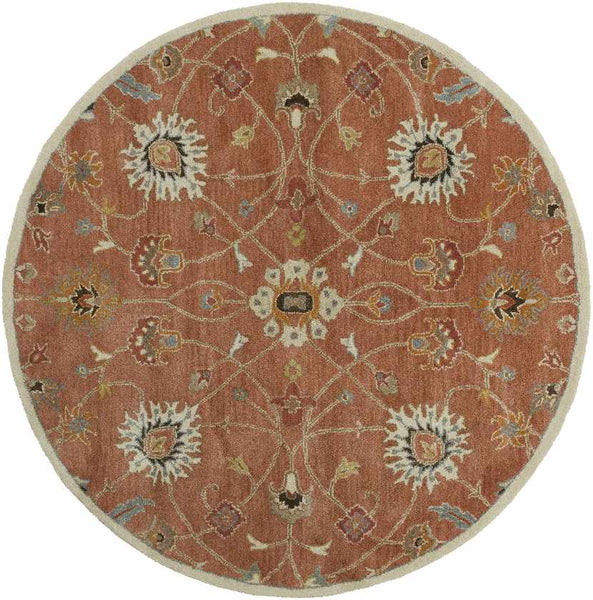 Two Hills Traditional Clay Area Rug