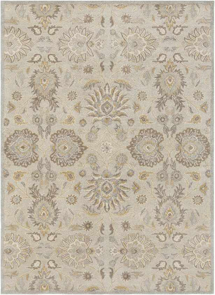 Eckville Traditional Light Gray Area Rug