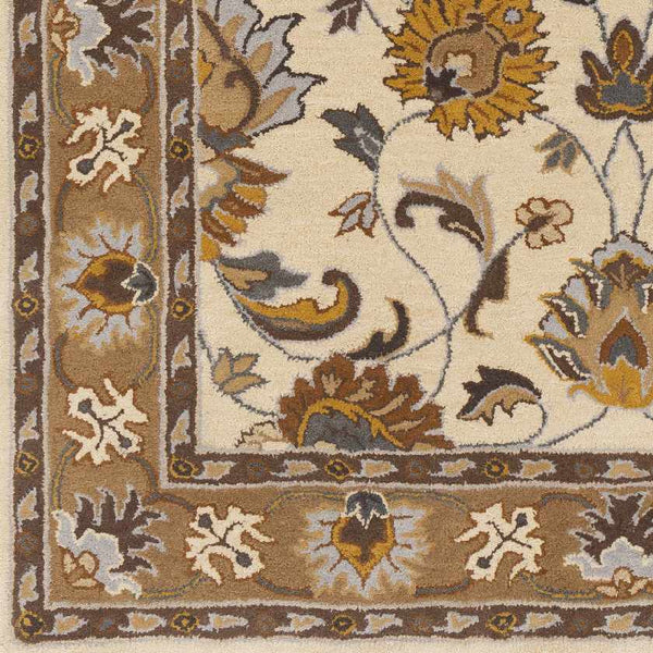 Paris Traditional Mustard Area Rug