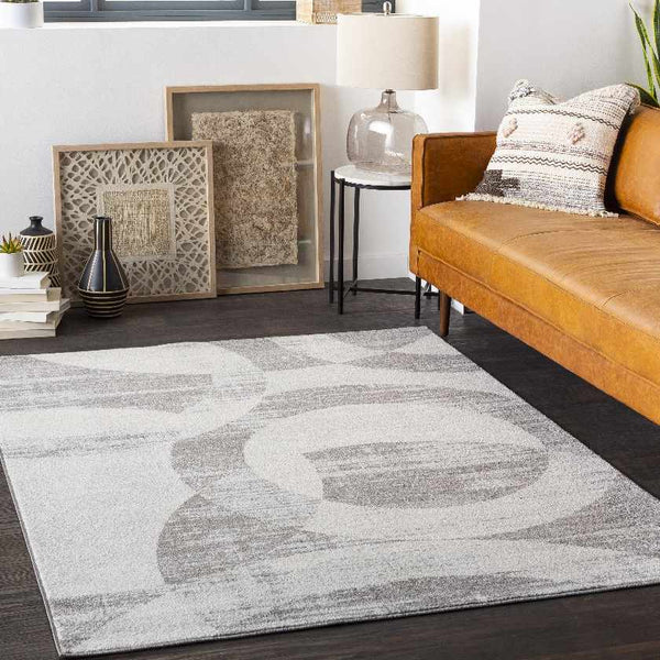 Aalburg Modern Light Gray Area Rug