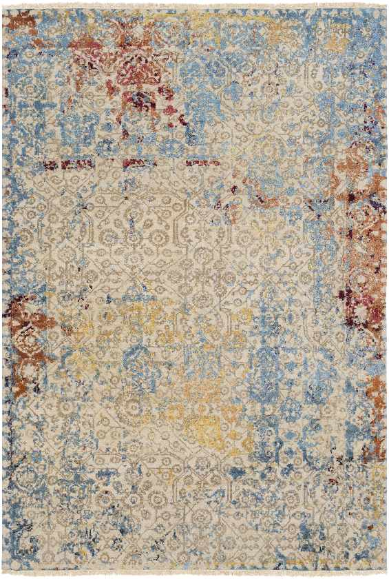 Neguac Traditional Aqua Area Rug