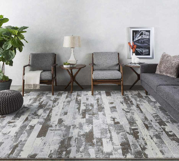 Castres Modern Dark Brown Area Rug