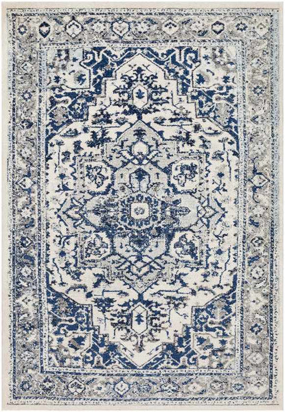 Harlingen Updated Traditional Navy Area Rug